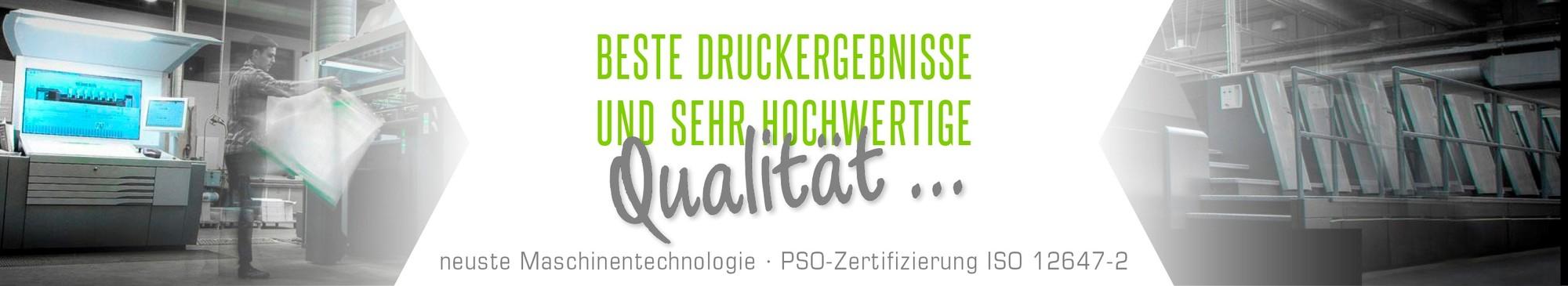 Onlinedruckerei mit modernsten Maschinentechnologien PSO Zertifizierung